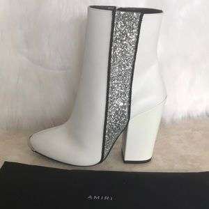 AMIRI Leather boots made in Italy